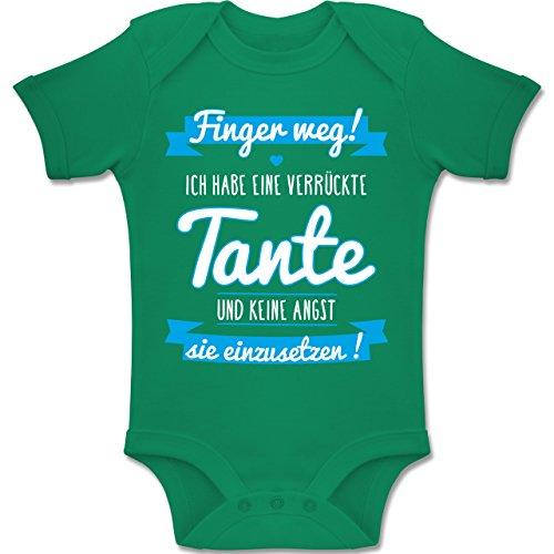 Baby - Ich Habe eine Verrückte Tante Blau - 6-12 Monate - Grün - BZ10 - Baby Body Kurzarm Jungen Mädchen (Grüne Sprüche)