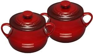 Le Creuset Stoneware Set of Two Soup Bowls, 0.5 L - Cerise