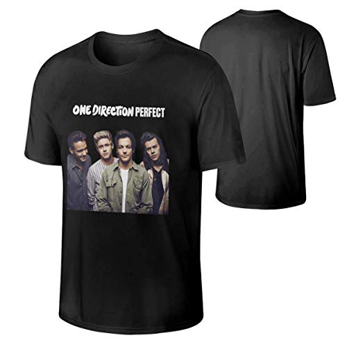 One Direction Mens Crewneck T-Shirt,Black,L