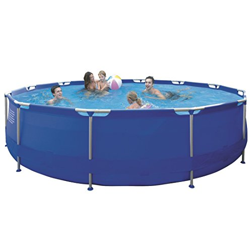 Jilong Sirocco Swimming Pool Set Ø 450x90 cm inkl. Pumpe Leiter Abdeckplane Bodenplane Schwimmbecken