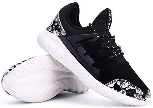DADAWEN Chaussures de Running/Course Homme noir(B)
