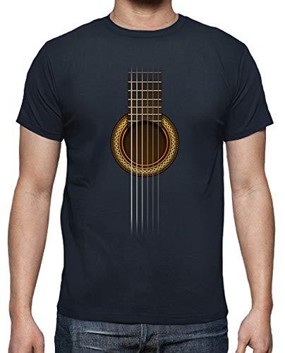 T-Shirt Voll Gitarre Navy XXL ()