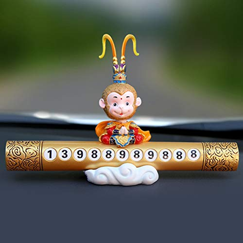 Preisvergleich Produktbild XdremYU Auto Nummer Parkkarte Dekoration Affenkönig Temporäres Stopp Telefon Golden