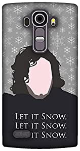 The Racoon Lean Grey Let it Snow hard plastic printed back case / cover for LG G4