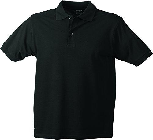 James & Nicholson Herren Poloshirt Workwear Polo Men Schwarz (Black)
