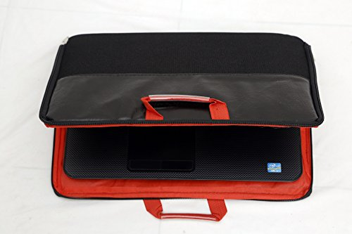 Blufury Laptop Screen Protector, Dust Cover Cum Bag with Handle, Red/Orange Colour inside for Asus 15.6-inch Laptop