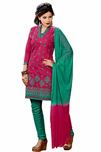 Oomph! Women's Polycotton Unstitched Salwar Suit Dress Material (rbgg_ganga_1009_Magenta Pink)
