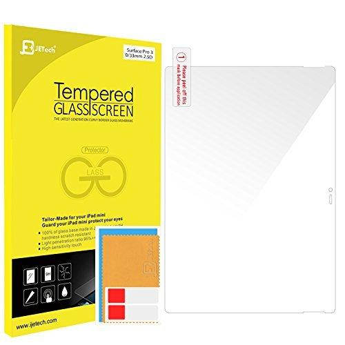 JETech 0912-SP-SURFACE-PRO-3-GLASS Surface Pro 3 - Protector de Pantalla (Protector de Pantalla, Microsoft, Surface Pro 3, Resistente a rayones, Transparente, 1 Pieza(s))