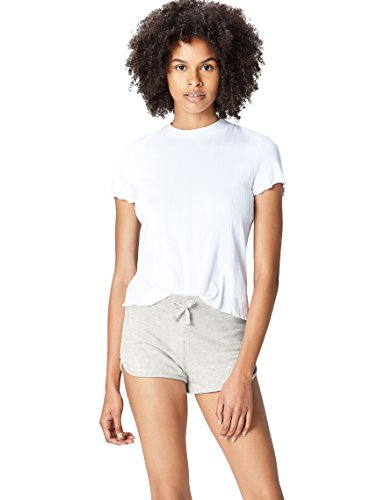 Activewear Shorts Damen, Grau (Oatmeal Marl), 38 (Herstellergröße: Medium)