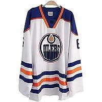 Bieber # 6 Camiseta de Hockey sobre Hielo engrasador de Manga Larga Suelta Camiseta de Hockey sobre Hielo Ropa Deportiva Equipo de competición Uniformes Sudaderas para Hombres y Mujeres S-L