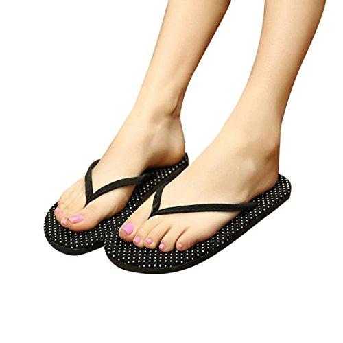 Culater® Femmes dété Bascules Plat Flops Sandales Chaussons (EU 38, Blanc) Blanc