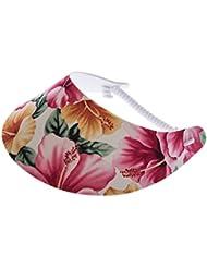 """XFORE visière soleil """"Eilean"""" casquette de golf sport tennis pour femmes avec motif floral, taille unique"""