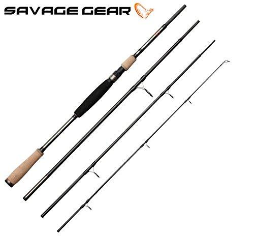 Savage Gear Roadrunner XLNT2 213cm 10-40g Spinnrute, Angelrute zum Spinnfischen, Rute zum Spinnangeln, 4-teilige Steckrute, Angel für Zander, Barsch, Forellen & Hecht, Reiserute