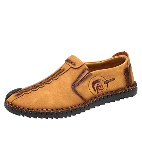 Zapatos Planos con Cordones Hombre Zapatos Casuales de Negocios Hechos a Mano Mocasines de Conducción de Zapatos
