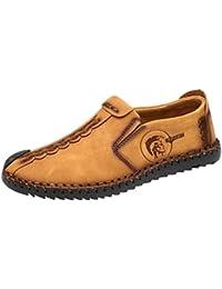 check out 4287b 5ecf8 Zapatos Planos con Cordones Hombre Zapatos Casuales de Negocios Hechos a  Mano Mocasines de conducción de