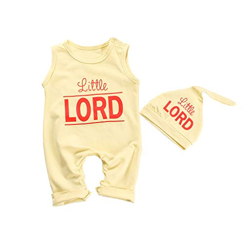 Cat Daddy Kostüm - JERFER Overall Baby Sommer Jungen Brief ärmellose Strampler + Hut Kostüm Jumpsuit Set