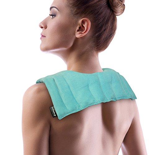 Dynamik Products - Petite bande chauffante micro-ondable - apaise les douleurs dans le cou et les épaules - sachet de billes de silice réutilisable