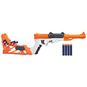 Nerf N-Strike Blaster Ner Elite Pistola Lanzador Sharpfire, Naranja, Color Blanco, 56.6 x 21.3 x 4.8 (Hasbro A9315EU4)
