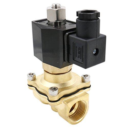 Normalerweise Offene Magnetventil (heschen Messing Elektrisches Magnetventil 2WK200–20PT 3/4DC 12V Direct Action Wasser Air Gas Normalerweise offen)
