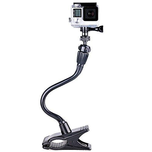 """Smatree® Verstellbare Jaws Flex Klemmhalterung mit 13,4"""" Schwanenhals-Erweiterung für GoPro Hero 5, 4, 3+, 3, 2, 1, Session/für Kompaktkameras(1/4"""" Gewinde)"""