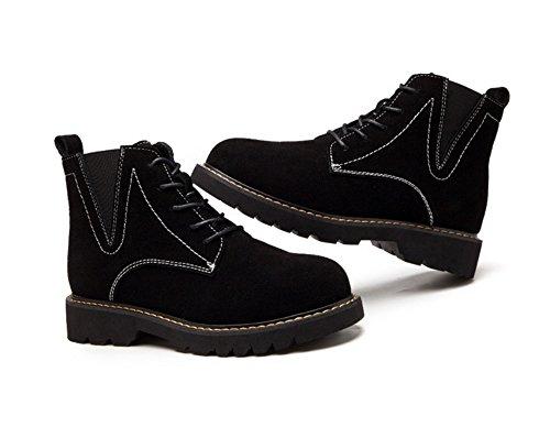 Martin stivali in autunno e in inverno stivali retrò smerigliati alla moda esterna piana desert Stivali Stivali da neve black