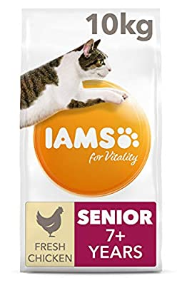 Iams for Vitality Senior Cat Food with Fresh Chicken for Older Cats of 7+ years from FEANDREA