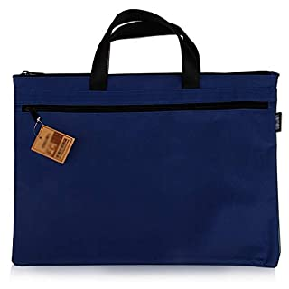 AJS Document Bag, Office Double Storage Bag, Portable Business Bag, Shopping Bag A+ (Color : Blue)