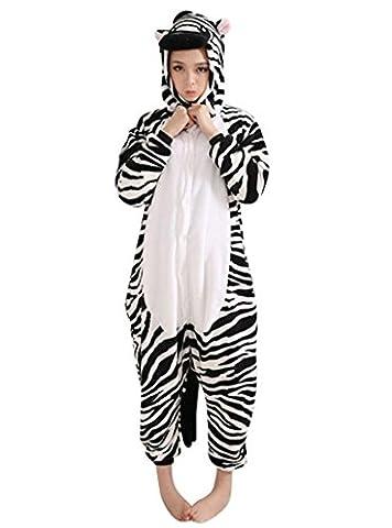 Schlafanzug Jumpsuit Erwachsene Tier Pyjama Cartoon Fasching Sleepsuit Einhorn Pinguin Dinosaurier Panda Onesies Nachtwäsche Halloween Karneval Cosplay Kostüm Unisex Kigurumi - (Panda Kostüm Männer)
