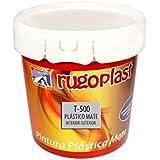 Pintura plástica blanca mate lavable de gran calidad interior / exterior ideal para decorar tu casa ( salón, cocina, baño, dormitorios... ) T-500 (4 L) Envío GRATIS 24 h.