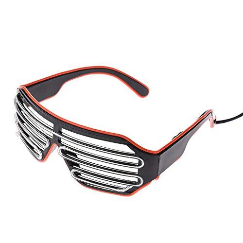 LED-Brille, Mode Neon Kaltes Licht Two Tone Sonnenbrille Für Tanzparty Bar Meeting Glow Rave Atmosphäre Aktiv