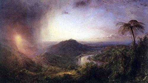 Das Museum Outlet–Art Postkarte–Das Tal von St. Thomas, Jamaika von Frederick Edwin Church–Set 12Stück Postkarten