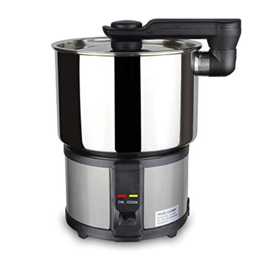 ZXX Faltbarer elektrischer Kocher, tragbarer Mini-Kocher, Kocher mit Kesseltrocknungsschutz, 1300 ml, Reise-Doppelspannungstopf 100-240 V -