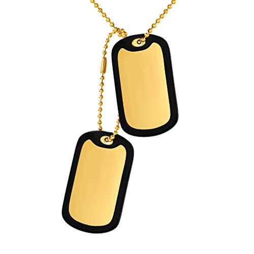 58a374190071 Marbete de Perros Doble Tablas Acero Inoxidable Collar Colgante de  Idendidad Sin Contenido Brillo