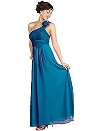 6fafc8bb745 Nachtigall+Lerche Abendkleid Elegant für Hochzeit Lang Brautjungfernkleid  One-Shoulder-Kleid Empire-