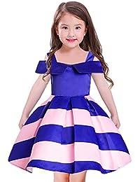Vestido de Novia de niña Boda de época Pageant Vestido de Tul de Flores con Cola de Rata Borde Vestidos para niñas de…