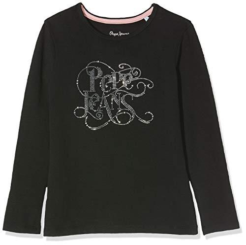 Pepe Jeans Makeba Camiseta, Black 999, 17-18 años de Edad Talla del Fabricante: 17/18...