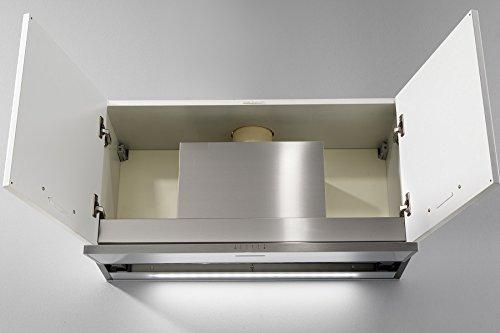 Einbau Dunstabzugshaube patentierte Kondenswasser-stop System / GALVAMET SLIVER 90/A / EEK A / Dunstabzughaube / Luftabzug / für Wandschränke 90 cm / ECO LED Leiste / 100% made in Italy