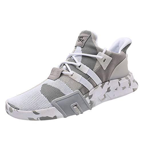 ABsoar Laufschuhe Herren Atmungsaktive Sportschuhe Sneakers Camouflage Joggingschuhe Gestrickte Fitnessschuhe Tennisschuhe
