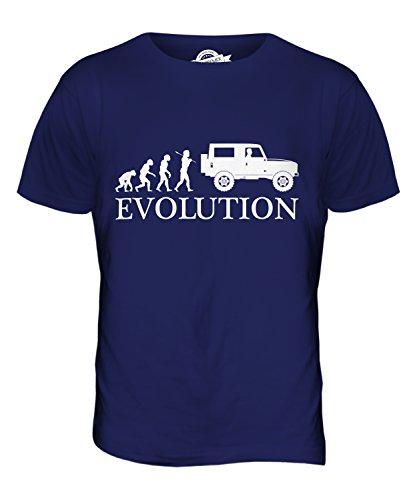 CandyMix 4X4 Evoluzione Umana T-Shirt da Uomo Maglietta Blu Navy