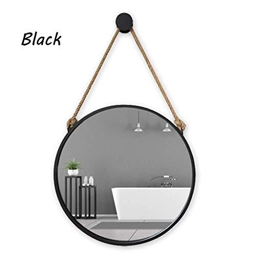 WMPD LT Espejo de baño, baño del hogar, Espejo de Hierro Forjado, Espejo Decorativo Vintage, Espejo...