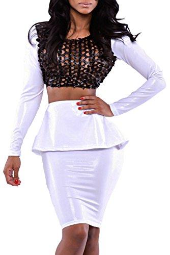 E-Girl femme Blanc SY6659 robe de soirée Blanc