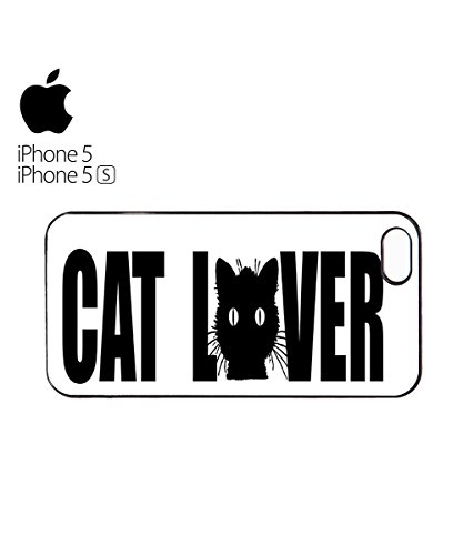 Cat Lover Paw Cute Mobile Cell Phone Case Cover iPhone 5c Black Blanc