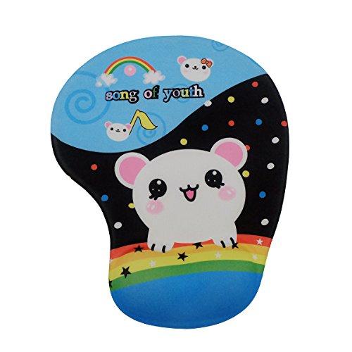 SANKA Mousepad con Animali Immagine Ovale Gel da Polso (19cm * 23cm * 3 cm) (topi) - Ovale Mat