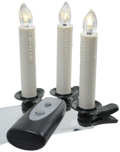 Kaemingk 482521 - Velas led con pinzas para interiores (sin cable, funcionan con pilas, 5 x 10 cm, 5 ledes de luz blanca cálida, complemento para 482520 y 482521)