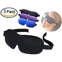Schlafmaske – 3 Stück tiefe Erholung Augenmaske mit 3D-konturierter Form und verstellbarem Kopfband – tolle Passform... preisvergleich bei billige-tabletten.eu