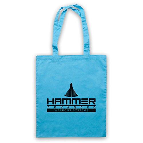 Inspiriert durch Iron Man 2 Hammer Advanced Weapons Systems Inoffiziell Umhangetaschen Hellblau