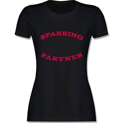 Kampfsport - Boxer - tailliertes Premium T-Shirt mit Rundhalsausschnitt für Damen Schwarz