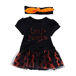 Ears Baby Kids Halloween Dresses Infant Toddler Baby Girls Halloween Letter Bow Party Dress Clothes Dresses Prinzessin Rüschenkleid