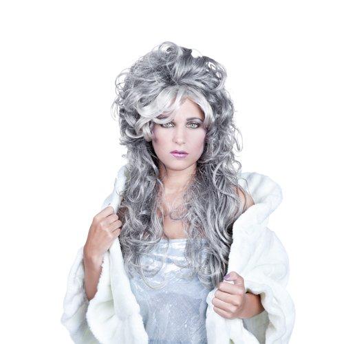 Perücke Ice Queen grau (Ice Queen Kostüme)