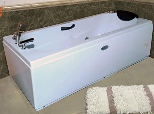 Vasca da bagno idromassaggio 170x70 cm doppia pompa ad aria e acqua full optional